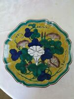 Real Antique chinese /Japanese porcelain Plate handmade marked excellent 10 In