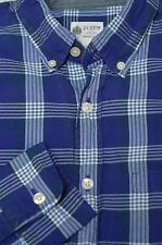 J. Crew Men's Blue & White Check Washed Cotton Casual Shirt XS XSmall