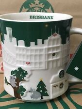 NEW Starbucks 2015 BRISBANE Australia Christmas Green relief 18 oz mug NEW!