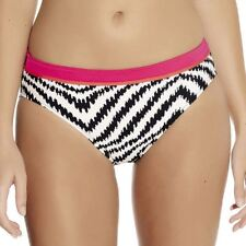 Fantasie Montego Bay Mid Rise Bikini Brief/Bottoms 5978 Black/Cream