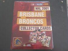 2001BRISBANE BRONCOS COURIER MAIL FOLDER PLUS CARDS