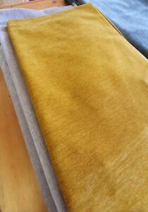 WARWICK VELLUTO TURMERIC VELVET  UPHOLSTERY FABRIC 105cm X 140cm