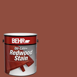1 Gal Redwood Stain Sealer Solid Color Oil-Latex Exterior Mildew Resistant New