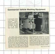 1965 Commercial Vehicle Washing Equipment Magic Circle Ross Auto Wash