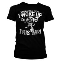 Official Looney Tunes Tasmanian Devil Woke up This Way Black Women T-shirt