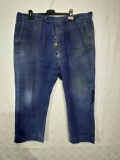 ancien pantalon de travail bleue  C 38