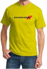 Dodge Double Stripe Red Logo Classic Print Tshirt NEW