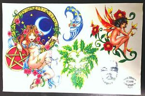 "1997 Tattoo Sheet Holthaus Flash Graphics Art 11"" x 17"""