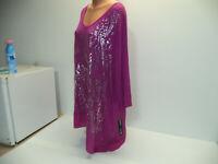New Womens Plus Size 3X Apt 9 Purple Print Tunic Top Or Dress Hi Lo