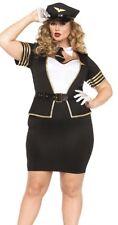 Leg Avenue Women's Plus 4 PC Sexy Mile High Pilot Costume Halloween Sz 3X/4X