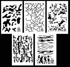 "5Pack! Airbrush Camouflage Stencils Camo Duracoat 14"" Multicam Digital & More"
