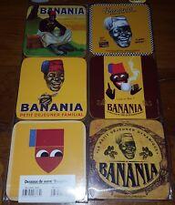 Dessous de verres serie «banania»
