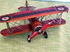 """Original RED TIN-PLATE piano: RAF """"Gloster Gladiator BIPLANO"""", circa anni'40"""