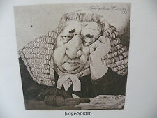 "Art print Charles Bragg artist black Lithograph ""judge/ spider"" Duotone Signed"