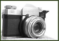 Zeiss Ikon Contaflex IV 35mm SLR Film Camera with Tessar 45mm Lens+original bag