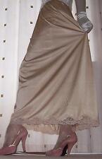 Formal length gold silky nylon petticoat half slip~underskirt lingerie 20~22 BN