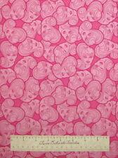 "Barbie Faces Allover Bright Pink Kids Girls - VIP Cranston Fabric 24"""