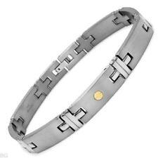 Gentlemens Bracelet Made in18K/Ti Titanium w/gold inlay
