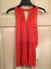 Lululemon Pedal To The Metal Singlet Size 4 NWT ALRM/HALR Alarming Color