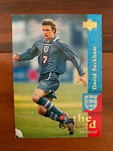 1997 Upper Deck England Soccer Card DAVID BECKHAM TRUE REAL ROOKIE Near Mint 17