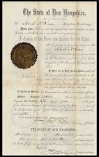 The State of New Hamp shire. A Justice of the Peace.. June 5, 1884. (BI#51)