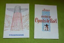 Lot 2 Programmes Paquebot FRANCE 1970 1971 COMPAGNIE GENERALE TRANSATLANTIQUE