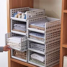 Stackable Wardrobe Drawer Units Organizer Clothes Closet Storage Boxes