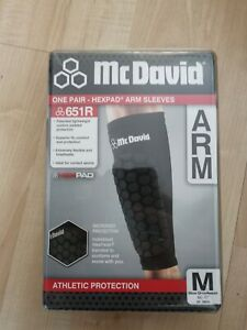 McDavid Hexpad Hex Pads Arm Sleeves Sports Forearm Protection Size M Medium Pair