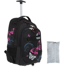 Trolley Elephant Hero Signature Schultrolley Trolly 12680 Butterfly Blk Pink +R