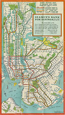 "1939 New York City NYC Subway System Map Train Transit IRT BMT IND Poster 9""x16"""