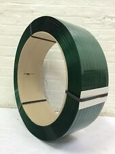 "Polyester Strapping 5/8""x.025 x 4400 ft 16x6 Green  SMOOTH"