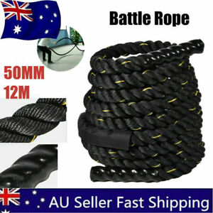50mm 12M Heavy Home Gym Battle Rope Battling Strength Training Exercise Fitness