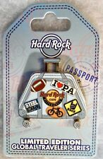 HARD ROCK CAFE PITTSBURGH GLOBAL TRAVELER SUITCASE WHEELS HANDLE PIN # 94026