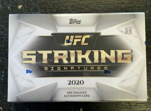 2020 TOPPS UFC STRIKING SIGNATURES FACTORY SEALED HOBBY BOX