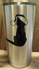 CHRISTMAS CAT  Vinyl Decal for home cars walls cups bumper stickers glass NURSE
