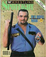 THE BIG BOSS MAN WWF WRESTLING SPOTLIGHT MAGAZINE VOLUME 10 1990 WWE