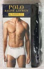Polo Ralph Lauren Classic Fit 4-Mid Rise Briefs  Large 36-38  Black  -9181