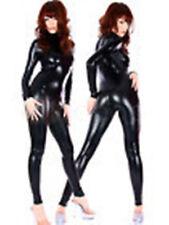 New Black Metallic Lycra Zentai spandex Unisex catsuit S-XXL