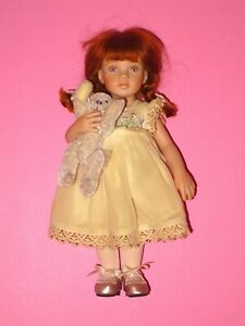 "Pauline - Paulinettes - 8"" Porcelain Redhead Girl Doll"