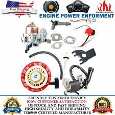 Para Honda GX160 5.5HP motor Carburador Filtro De Bujía Bobina de ignición de retroceso