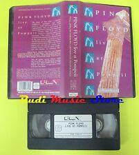 VHS PINK FLOYD Live at pompeii 1972 80 minuti PMV 080 730 3 cd lp dvd mc(VM5)