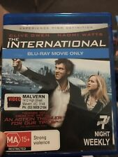 The International ex-rental BLU RAY (2009 Clive Owen thriller movie) * cheap *