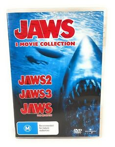 Jaws DVD Collection Jaws / Jaws 2 / Jaws 3 Region 4 Free Postage