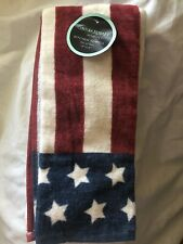 Cynthia Crowley American Flag Kitchen Towel 17x28 Set Of 2 Americans Old Glory