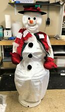 Rare Gemmy Animated Snowman Life Size Dancing Singing + Microphone Christmas
