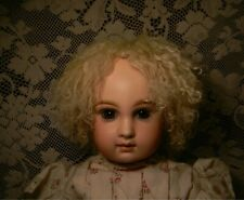 "Wig, Curly Mohair ""Skin""/Hide Back Large Size, French Or Early Doll"