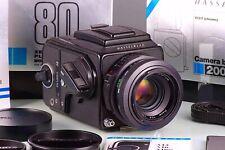 Premium Classic SLR 6x6 Hasselblad 2000 FC / W Black + Planar 2.8/80 F Wlf Cla