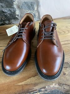 Loake Waverley Mens Chestnut Brown Leather Shoes Size UK 6 F