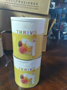 Thrive Shelf Reliance  Emergency Survival Food peach drink 2 cans