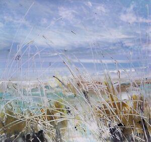Dune Grasses, Coastal / Landscape Art. Original Acrylic Painting.